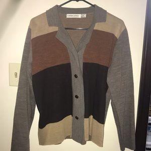 Sweaters - Color block cardigan